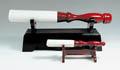 Ständer für Rotlack-Leder-Schlegel, rot