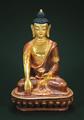 SHAKYAMUNI, teilvergoldet, 15 cm