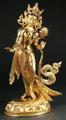 GRÜNE TARA, vollvergoldet, 35 cm
