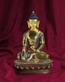SHAKYAMUNI, teilvergoldet, 20 cm